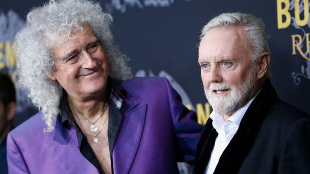 Brian May y Roger Taylor, en el estreno de Bohemian Rhapsody en 2018.