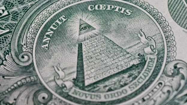 Un acercamiento a un billete estadounidense