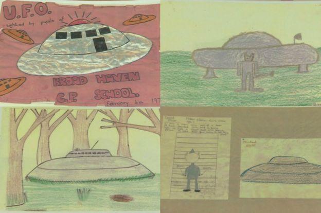 Pupil's drawings taken from Broad Haven School's scrapbook