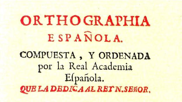 Ortografía de la lengua española.
