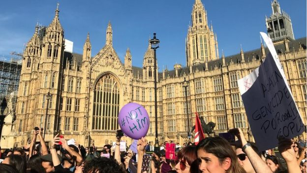 Manifestação contra Bolsonaro em Londres