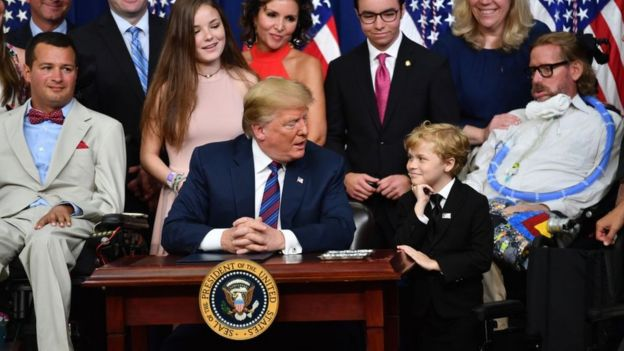 trump and the boy