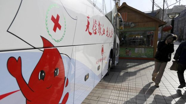 Chinese Red Cross bus