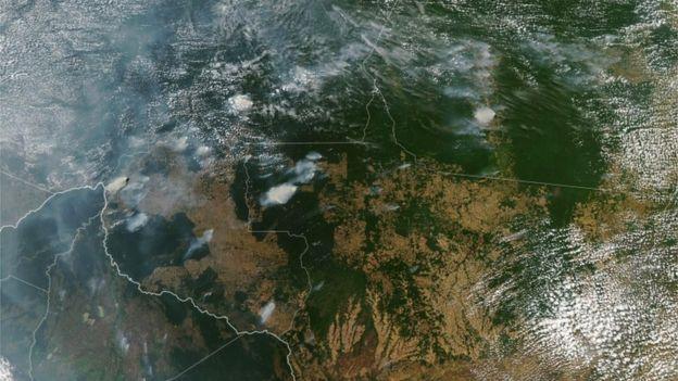 Imagem de satélite da Nasa em 11 de agosto