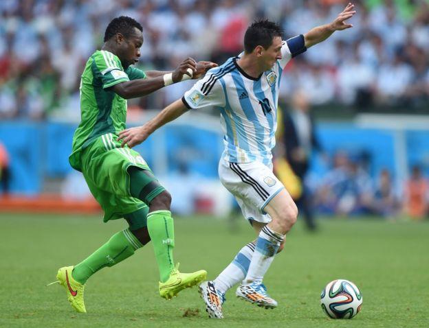 Messi contra Nigeria
