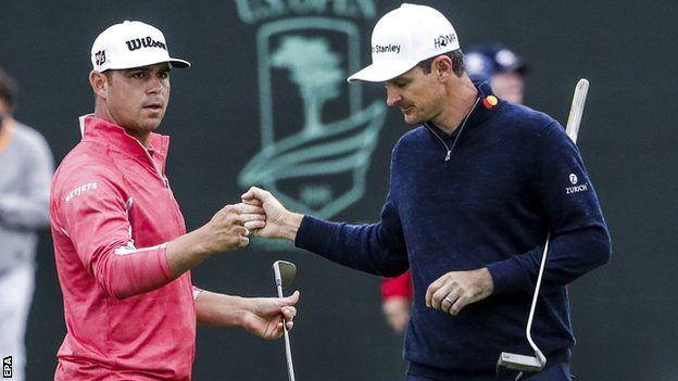 Резултат с изображение за Rose, who is good friends with Woodland, carded his worst round of the week on Sunday