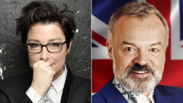 Sue Perkins and Graham Norton
