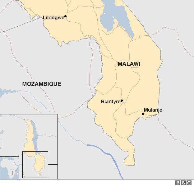 Map of Malawi