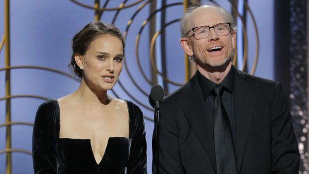 Natalie Portman with Ron Howard