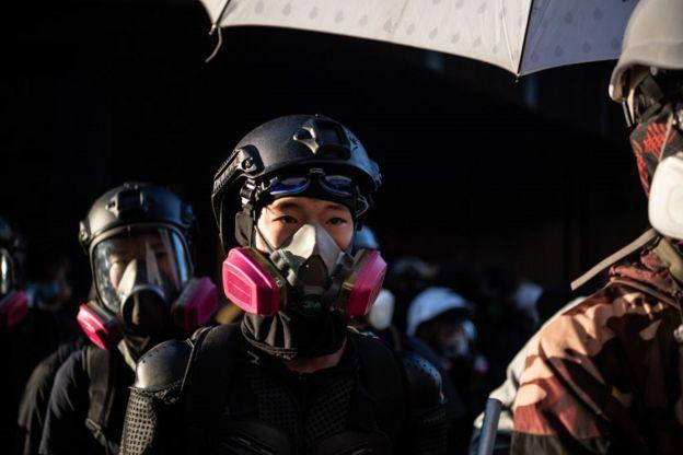 Sinh viên Hong Kong trong cuộc biểu tình ngày 18/11