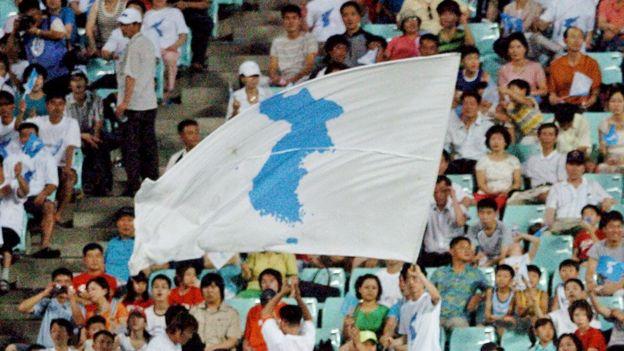 """Imagen de la bandera de """"Corea unificada"""""""