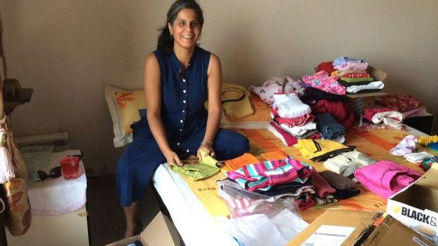 Shivani Gulati surrounded by clutter