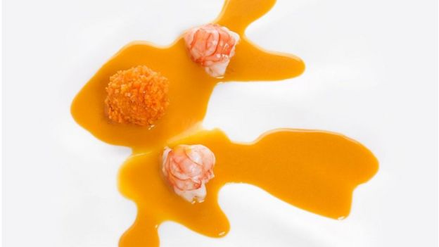 Plato de color naranja