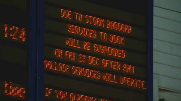 Scotrail sign at Queen Street station in Glasgow