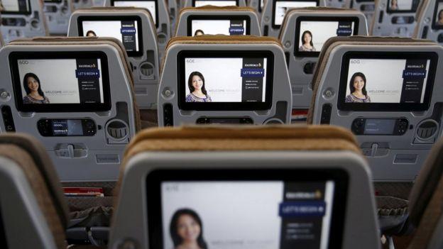 Classe econômica de avião