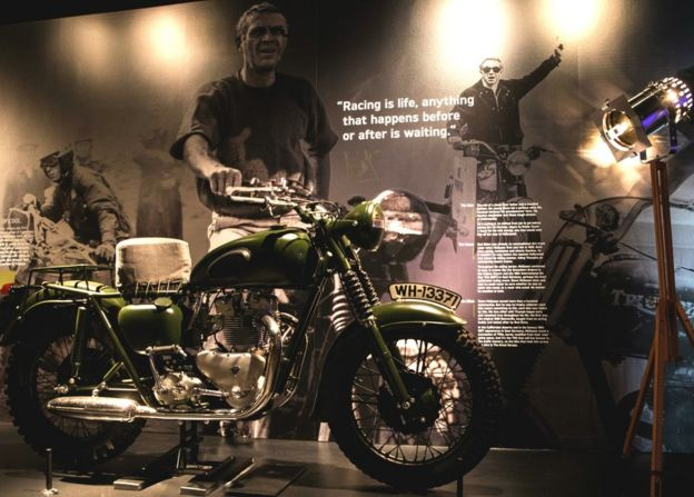 Triumph Motorcycle Exhibition The Great Escape Bike On Show Bbc News
