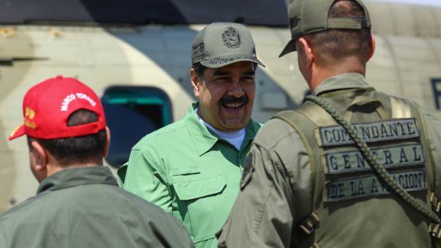 Ordu, Maduro'ya destek çıkıyor.
