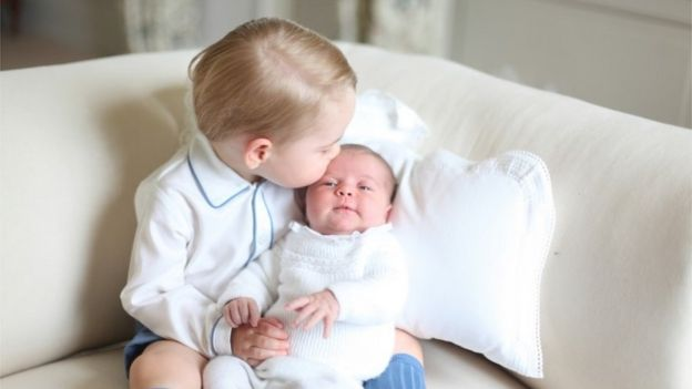 Prince George and Princess Charlotte in May 2015