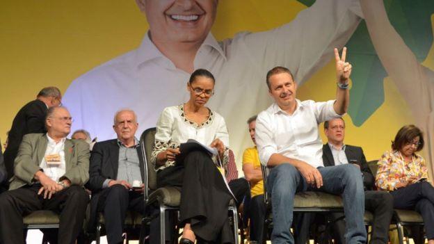 Marina Silva e Eduardo Campos em 2014