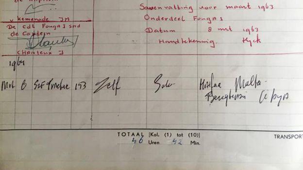 Van Eijck lists his solo flight to Benghazi in his log book