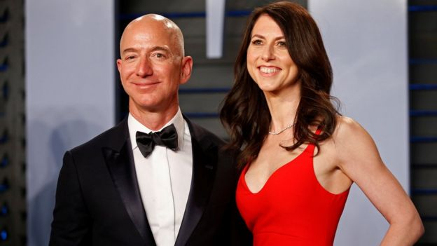 Jeff Bezos and his estranged wife MacKenzie Bezos