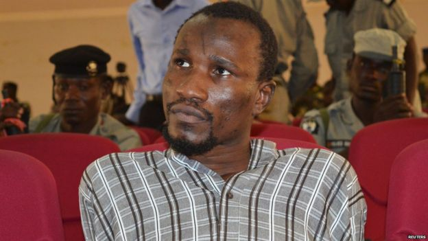 Mahamat Mustapha at his trial in Chad on 26 August 2015