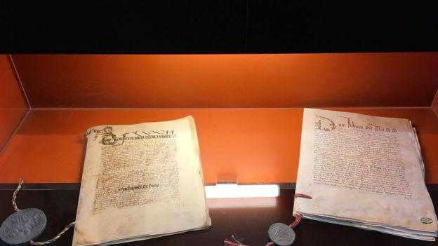 Documento do Tratado de Tordesilhas