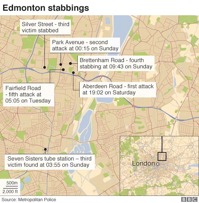 Edmonton stabbings: One victim left paralysed - BBC News