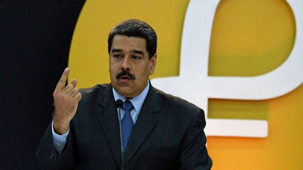 Maduro en el lanzamiento del petro