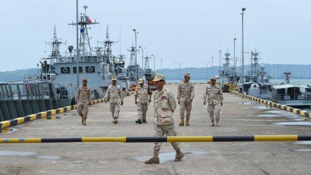 Căn cứ hải quân Ream ở tỉnh Preah Sihanouk của Campuchia đang là tâm điểm chú ý, nơi được nhiều người cho là sẽ trở thành địa điểm cho Trung Quốc sử dụng. Tuy nhiên, Phnom Penh bác bỏ và gọi đó là tin giả