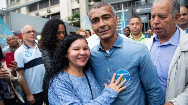O senador Romário