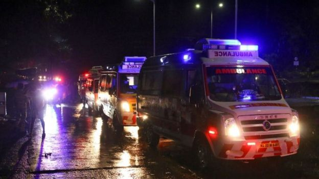 Olay yerine gönderilen ambulanslar