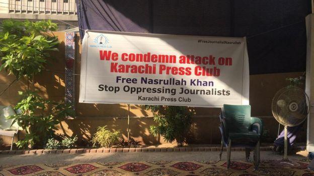 Karachi Press Club: Shock as authorities raid 'island of freedom