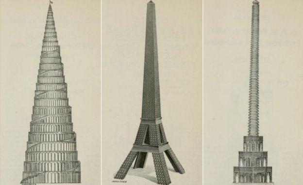 Três projetos de torre
