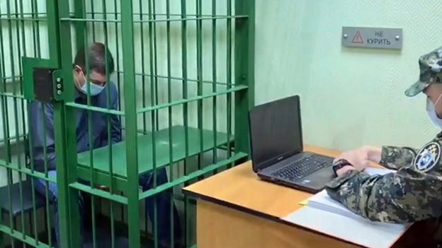 El gerente de la planta de energía, Vyacheslav Starostin, bajo custodia, (4 de junio de 20)