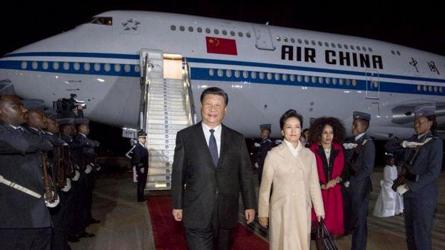 7月23日,國家主席習近平抵達比勒陀利亞