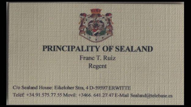 Principado de Sealand.