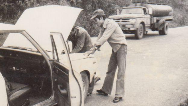 Tác giả trên đường vào Trại Đại Bình, Bảo Lộc, Lâm Đồng, tháng 1/1982