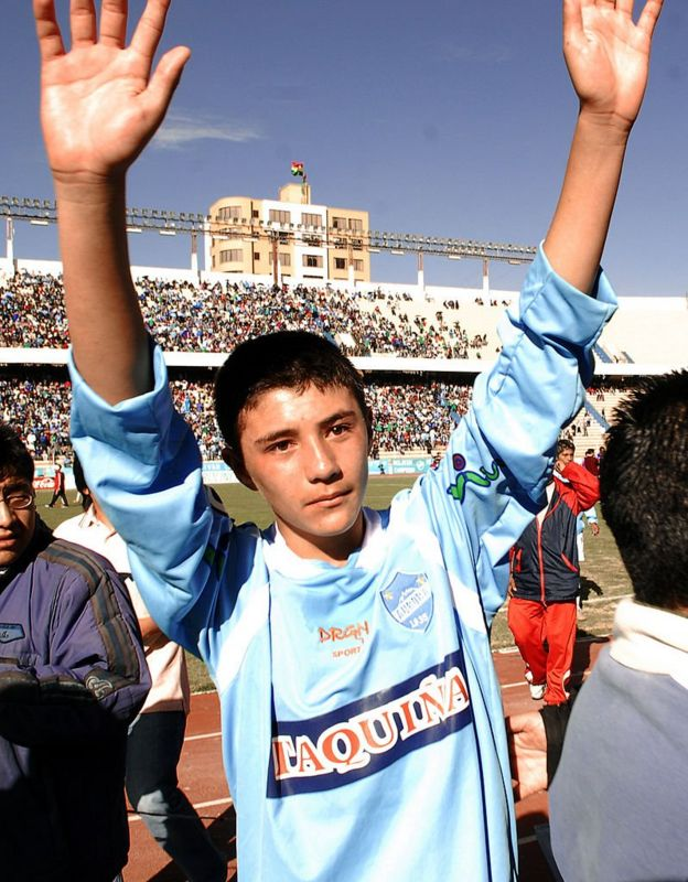 Mauricio Baldivieso en 2009.