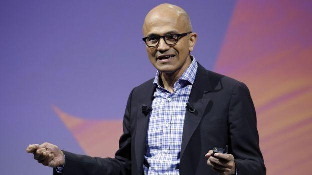Director general de Microsoft, Satya Nadella.