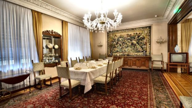 The dining room at Spring Palace in Bucharest