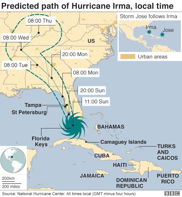 Hurricane map