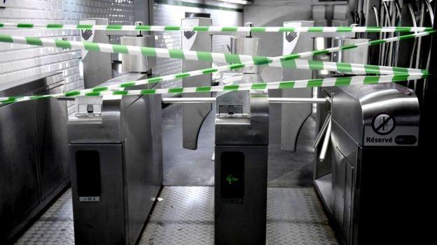 Одна из станций парижского метро