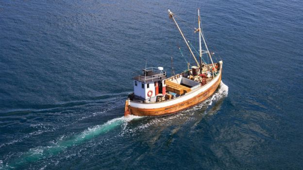 Barco de arrastre.