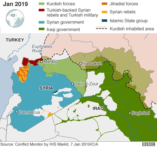 Syria war: \'IS suicide bomber\' kills US troops in Manbij - BBC News