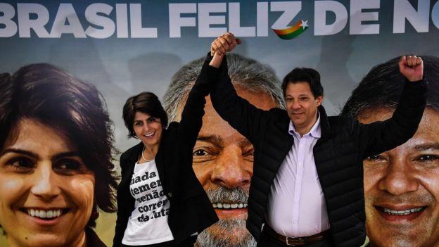 Fernando Haddad e Manuela D'ávila