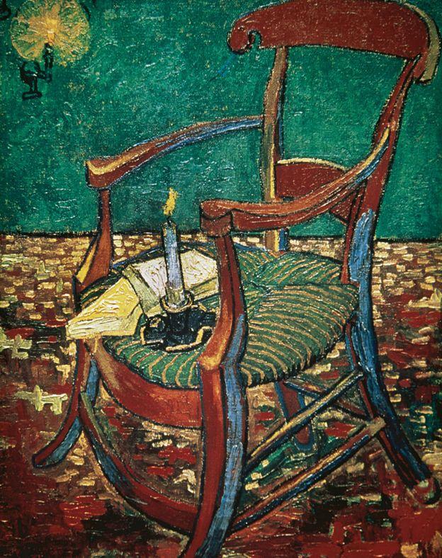 Cadeira de Gauguin pintada por Van Gogh