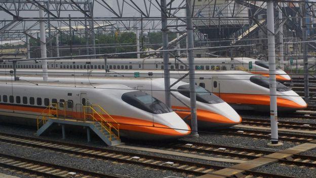 台湾高铁列车(资料图片)
