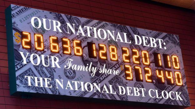 ● بنا بر برخی برآوردها، ایالات متحده به تنهایی مسئول 30 درصد از بدهی جهانی است