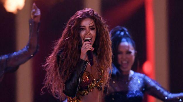 المغنية إيليني فوريرا التي مثلت قبرص